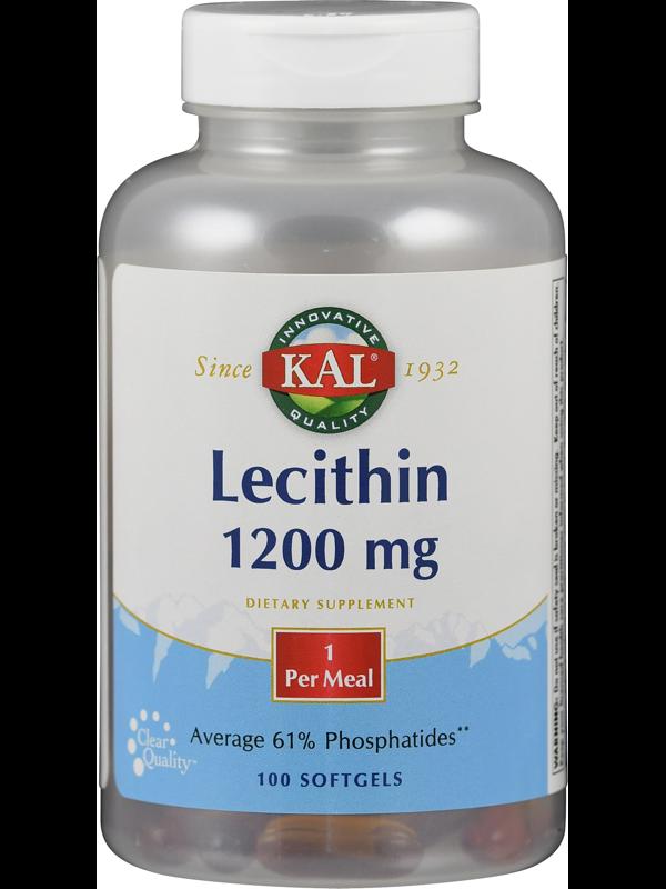 Lecithin 1200 mg, 100 Weichkapseln