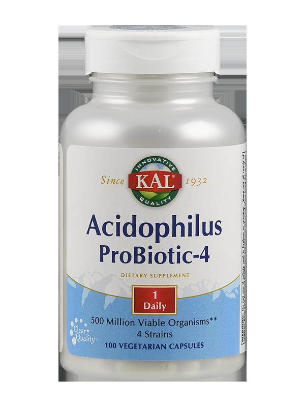 Acidophilus Lacto-4, 600 mg, 100 Kapseln