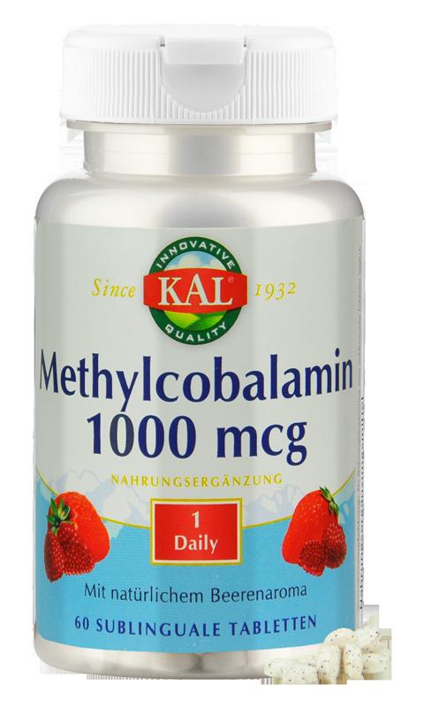 Vitamin B 12, 1000 mcg, 60 Lutschtabletten