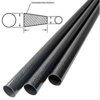 product image: Carbon fibre tubes (tapered/conical)