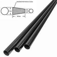 product image: Carbon fibre tube (tapered/conical) (31 x 15 x 0.9)