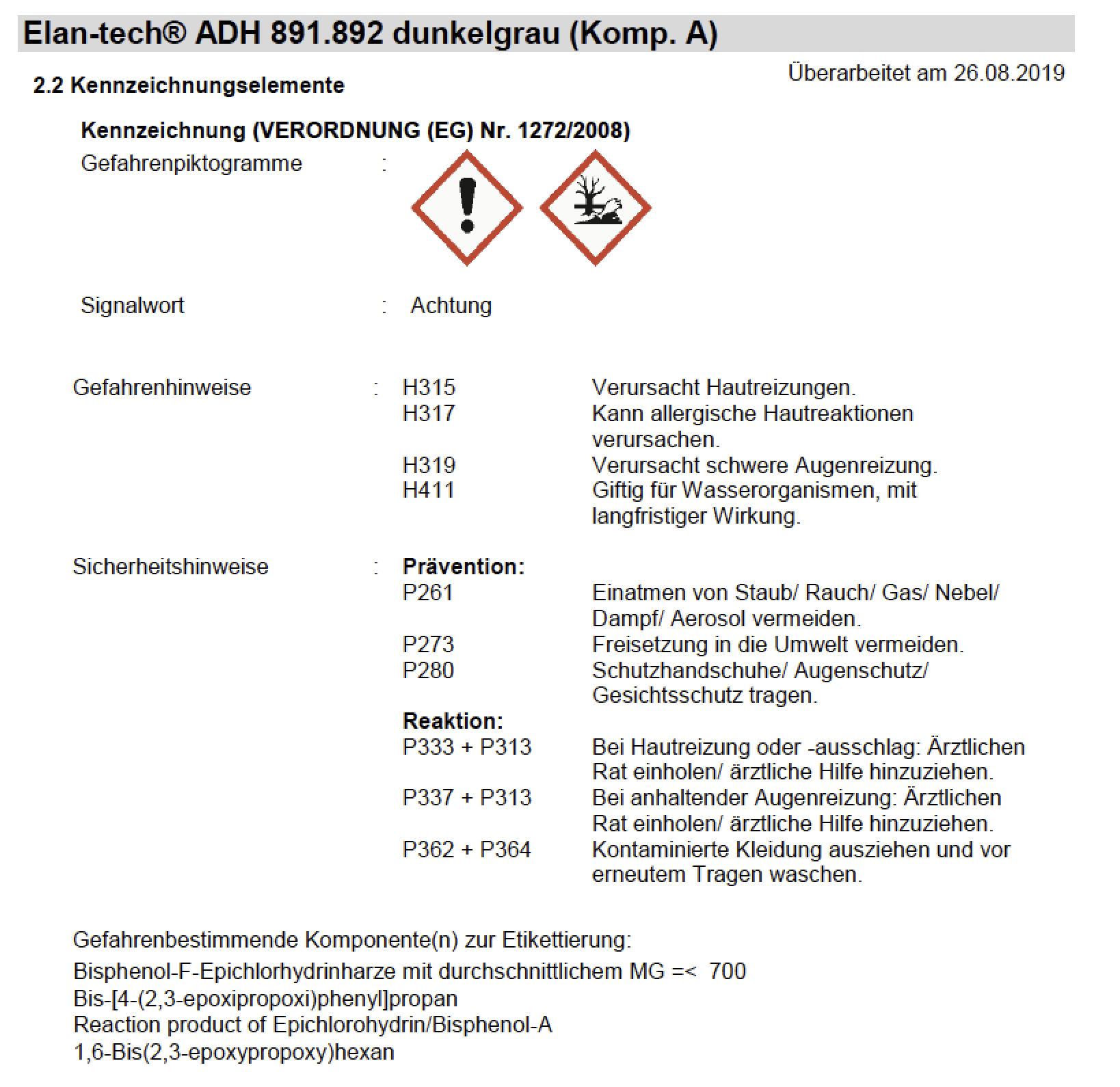 product image 4: Elan-tech® ADH 891.892 NF Epoxy adhesive (dark grey), 400 ml (MR 2:1)